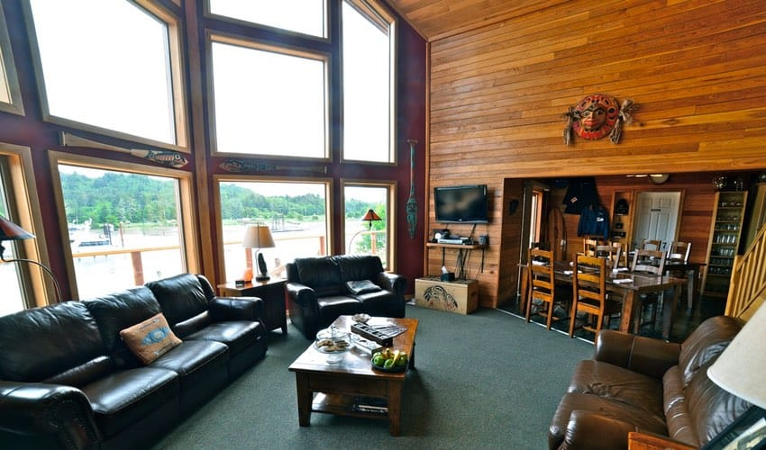 BC Salmon Fishing | Haida Gwaii lodge view