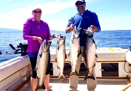 Vancouver chinook salmon fishing