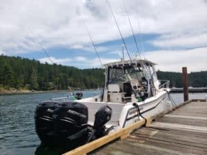 Vancouver salmon charter boat