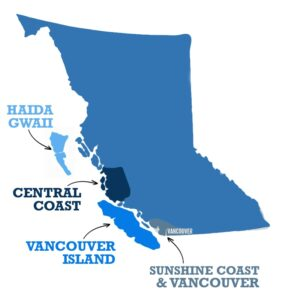 BC Salmon Fishing Map